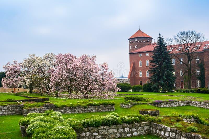 Historisk kunglig Wawel slott, Cracow/Krakow, Polen arkivfoton