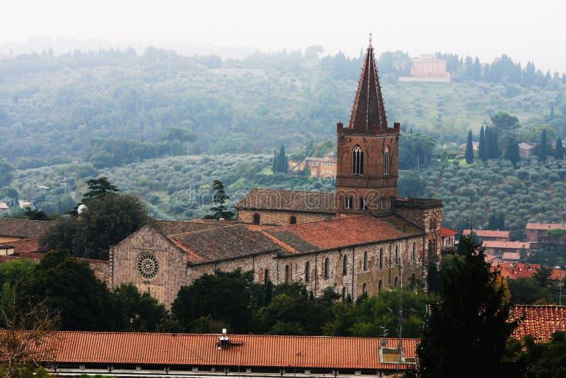 Historisk kyrka av Perugia, Umbria region i Italien royaltyfria bilder