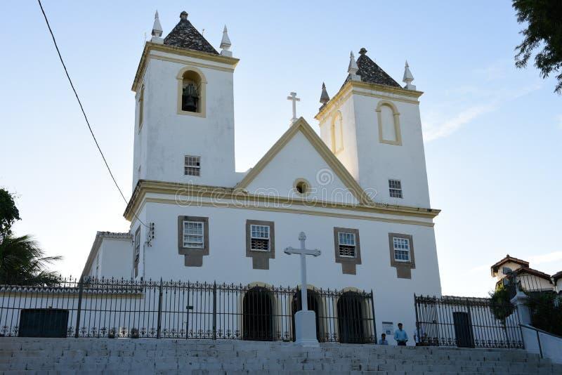 Historisk kyrka av Santo Antonio av Barra i Salvador Bahia, Brasilien arkivfoto