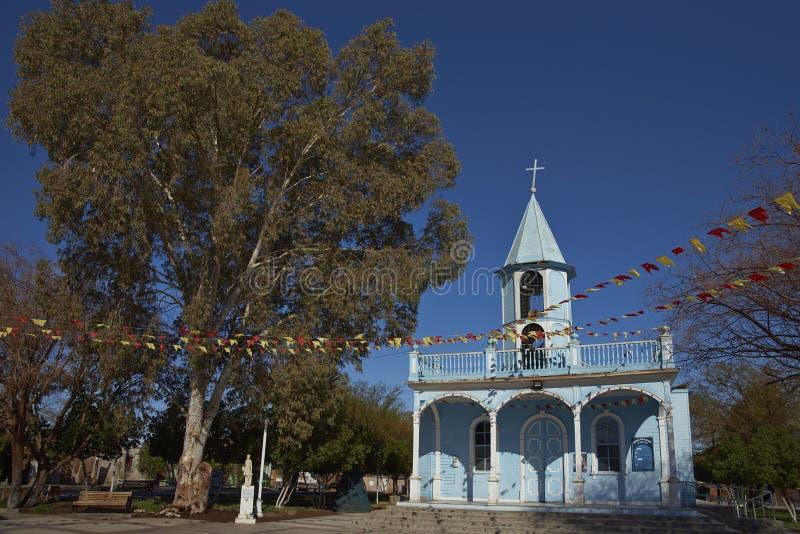 Historisk kyrka i Huayca i den Atacama öknen royaltyfri bild