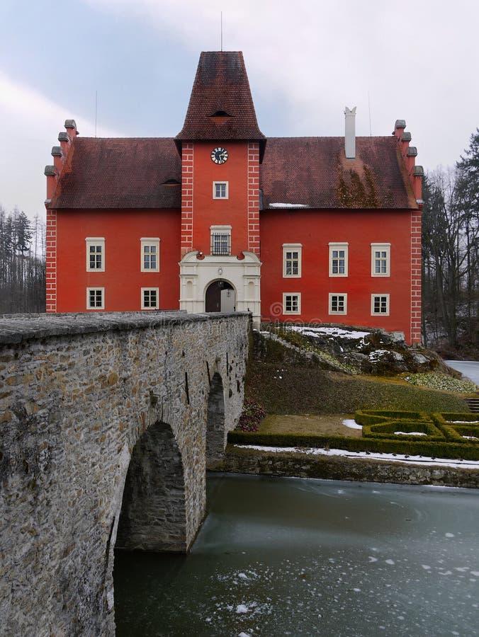 Saga för arv för Cervena Lhota slottLandmark royaltyfria bilder