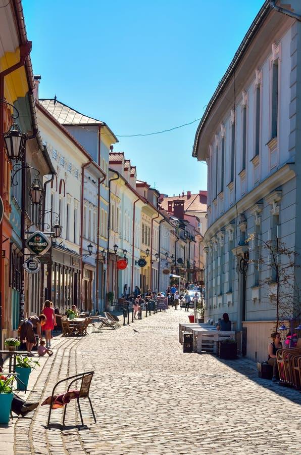 Historisk marknad i Bielsko-Biala, Polen arkivbilder