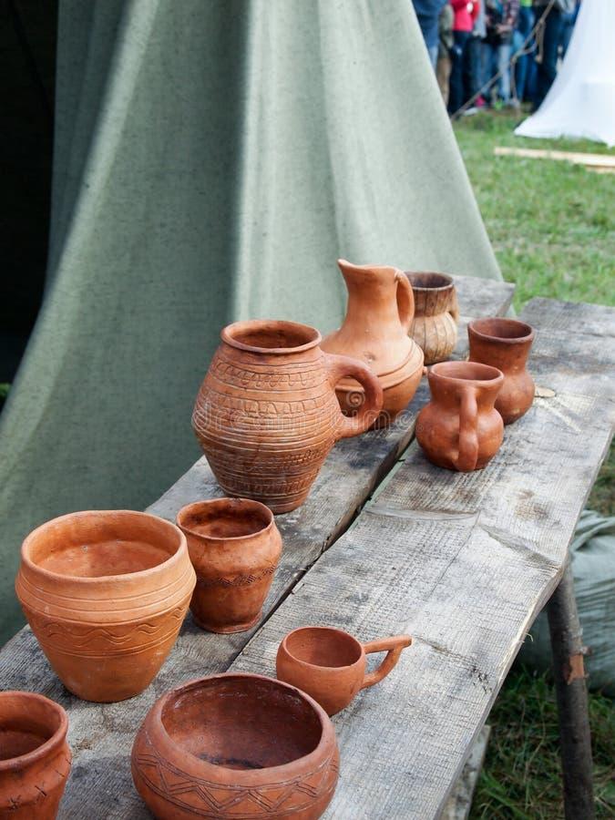 Historisk medeltida festival, läger Viking fotografering för bildbyråer