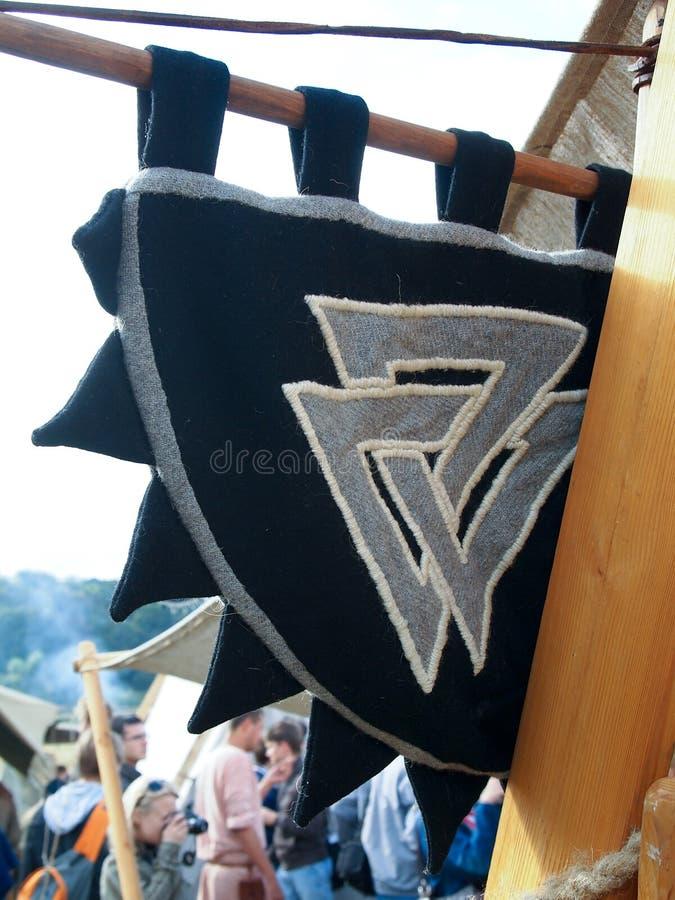 Historisk medeltida festival, läger Viking royaltyfri bild