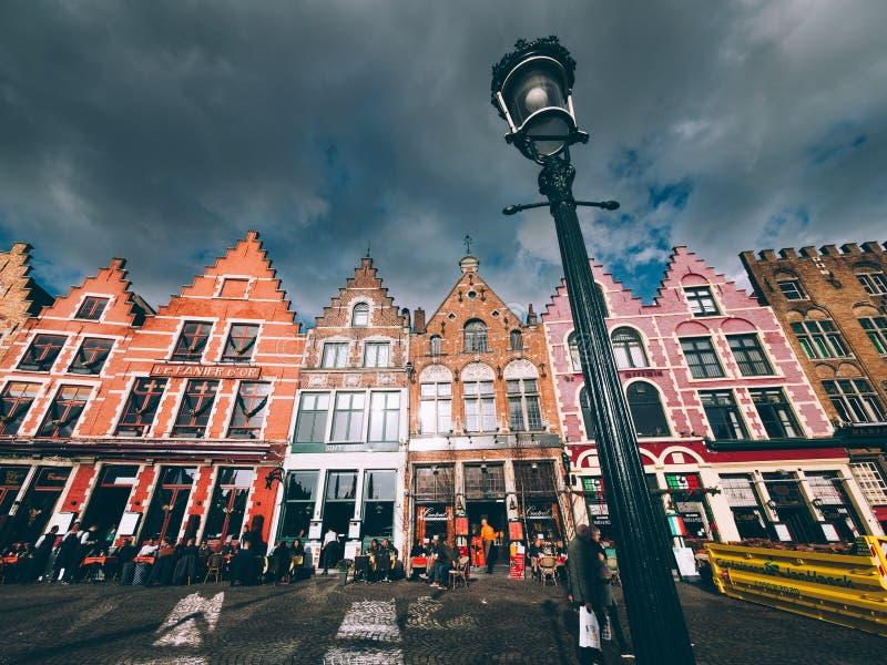 Historisk mitt av Brugge royaltyfria foton