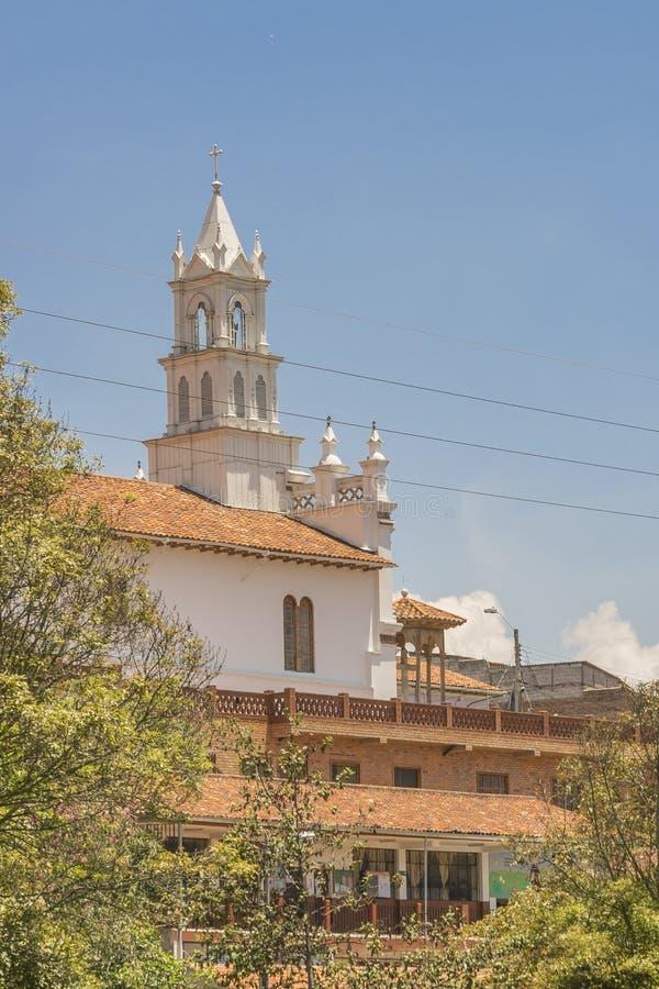 Historisk mitt av Cuenca, Ecuador royaltyfria foton