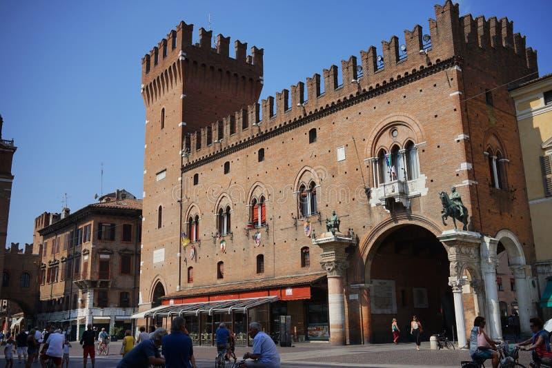 Historisk mitt av Ferrara arkivfoton