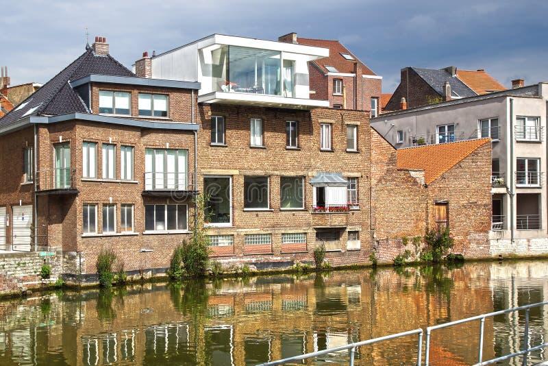 Historisk mitt av Mechelen, Belgien royaltyfri foto