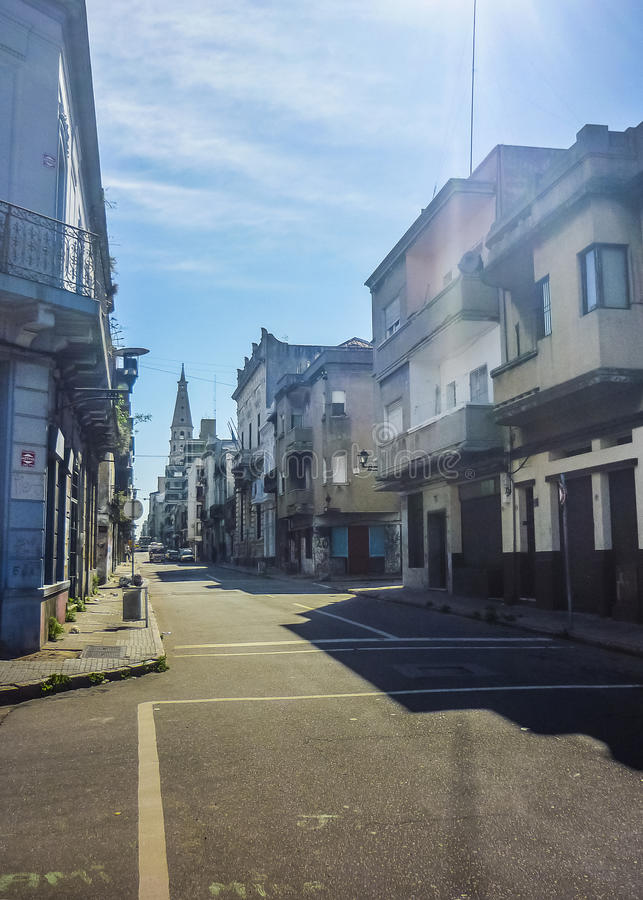 Historisk mitt av Montevideo arkivbilder