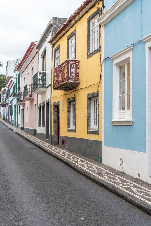 Historisk mitt av Ponta Delgada på ön av Sao Miguel i Azoresna, Portugal royaltyfria foton