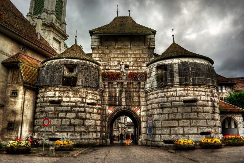 Historisk mitt av Solothurn HDR royaltyfria foton