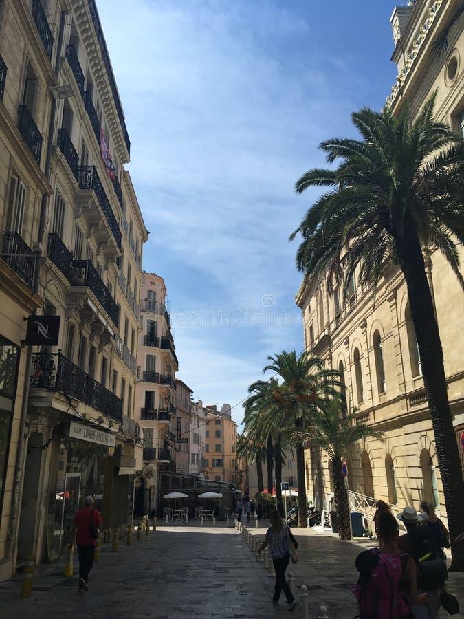 Historisk mitt av staden Toulon fotografering för bildbyråer