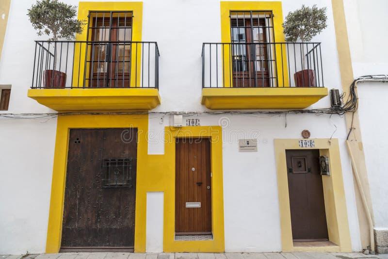 Historisk mitt, Dalt Vila, Unesco-världsarv, Ibiza, E royaltyfri foto