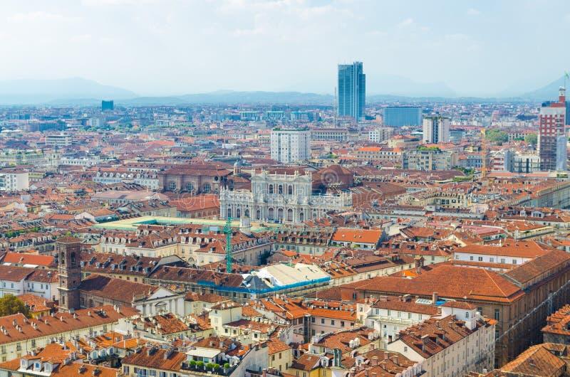 Historisk mitt för Turin stad, Piedmont, Italien fotografering för bildbyråer