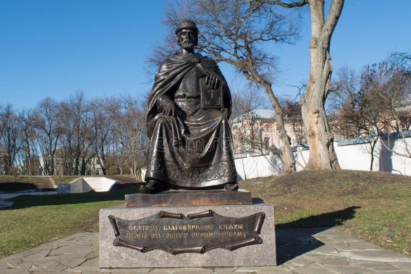 Historisk monument av den ukrainska krigsherren royaltyfri fotografi