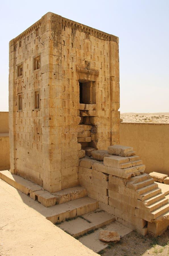 Historisk monumentkub av Zoroaster från nekropolen Naqsh-e Ru royaltyfria bilder