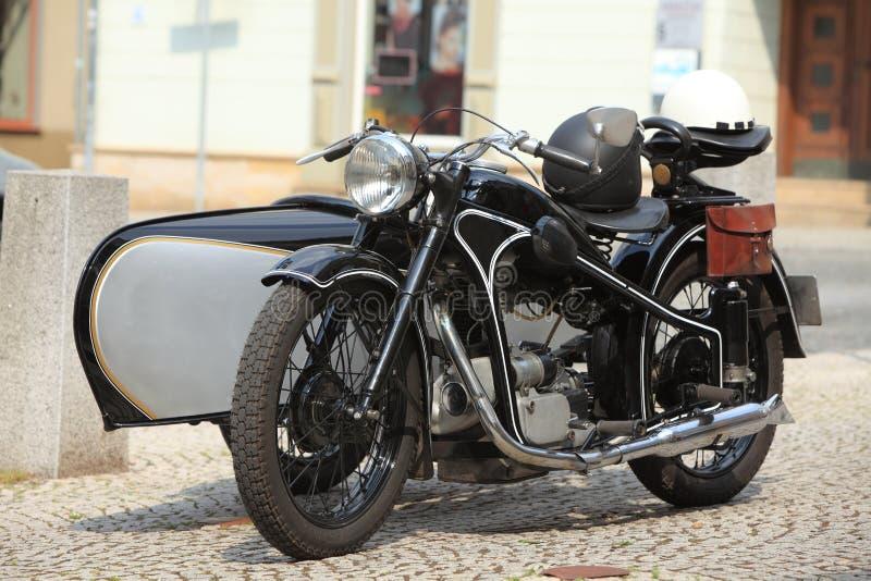 historisk motorcykel royaltyfri foto