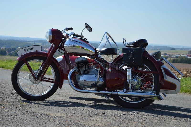 historisk motorcykel royaltyfria foton