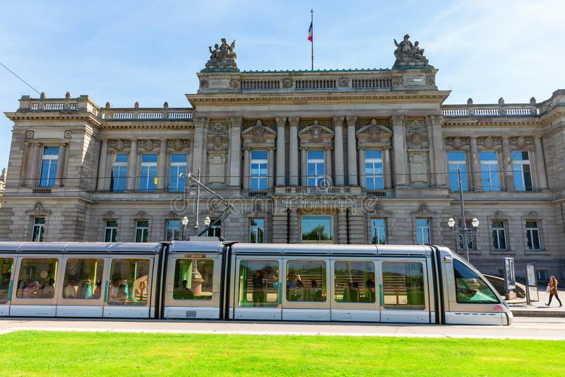 Historisk nationell teater av Strasbourg, Frankrike arkivbilder