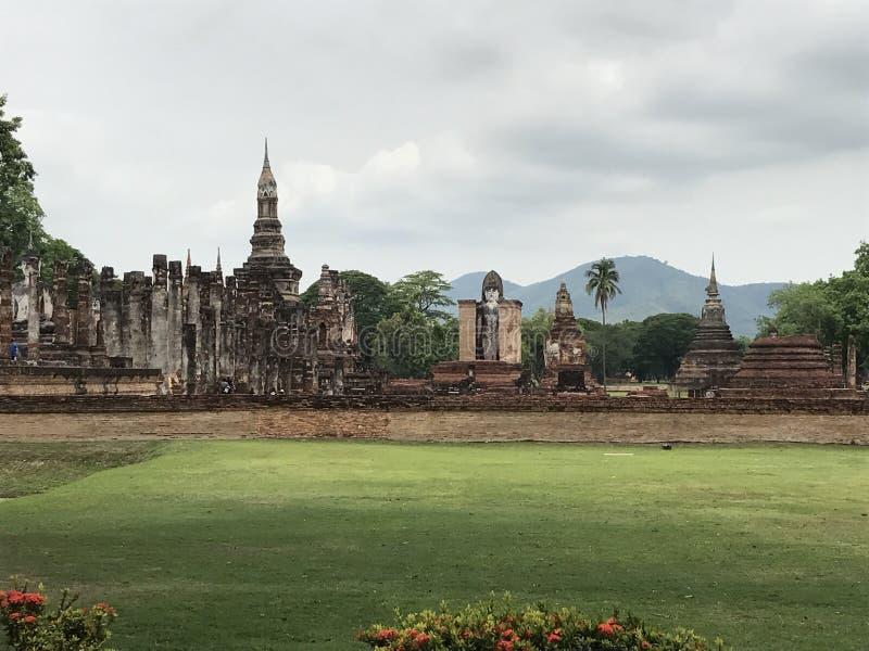 historisk parksukhothai thailand royaltyfri bild