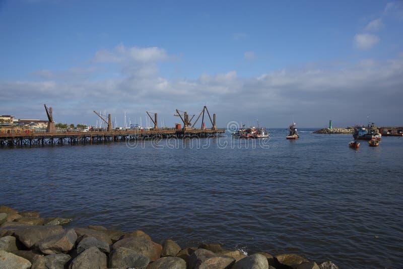 Historisk pir i Antofagasta, Chile royaltyfria bilder