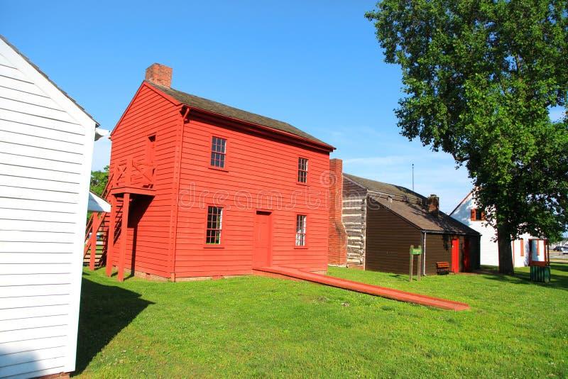 Historisk plats för Harrison herrgård i Indiana arkivfoton