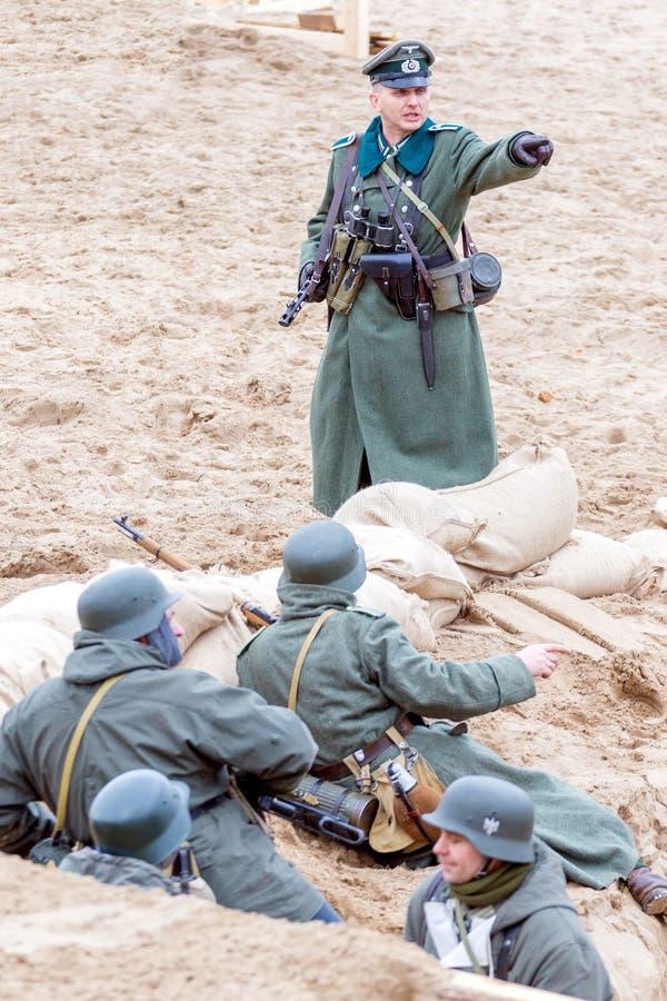 Historisk rekonstruktion av det andra världskriget, royaltyfria foton
