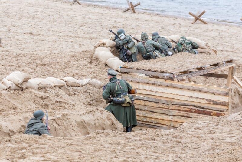 Historisk rekonstruktion av det andra världskriget, royaltyfri bild