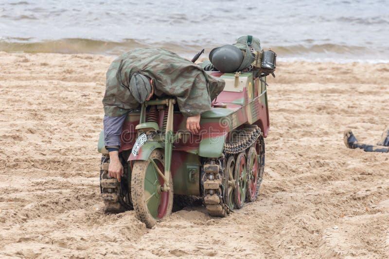 Historisk rekonstruktion av det andra världskriget, royaltyfri foto