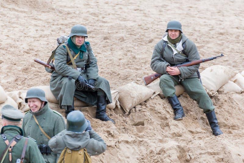 Historisk rekonstruktion av striden av det andra världskriget arkivbilder