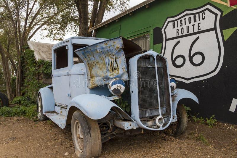 historisk route 66 fotografering för bildbyråer