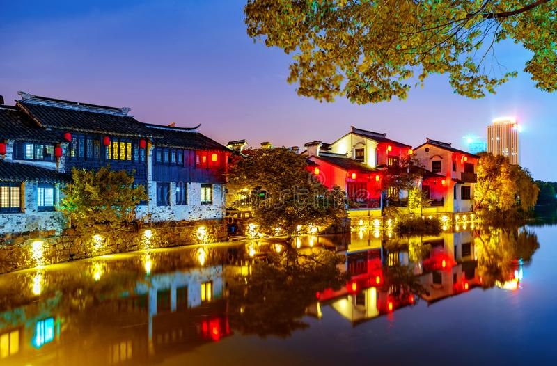 Historisk scenisk gammal stad Wuzhen, Kina royaltyfri bild