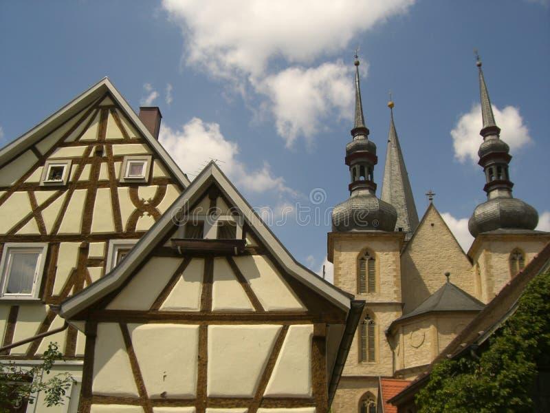 Historisk sikt på Romantischen Strasse royaltyfria bilder