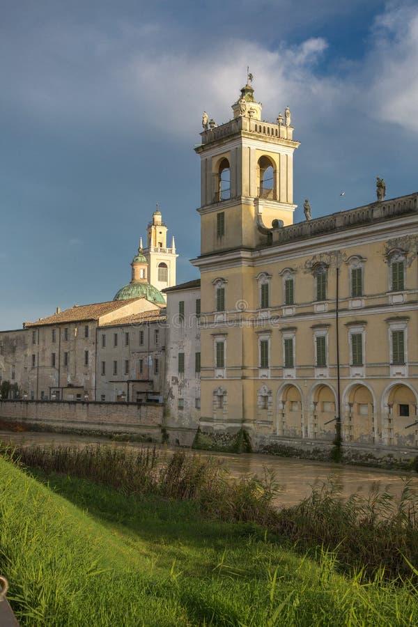 Historisk slott av Reggia di Colorno, Parma, Emilia Romagna region, Italien royaltyfri foto