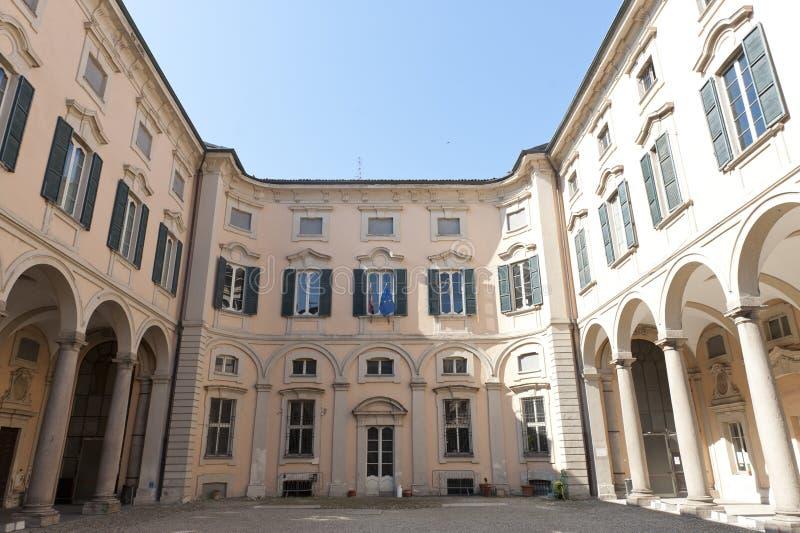 historisk slott pavia royaltyfria bilder