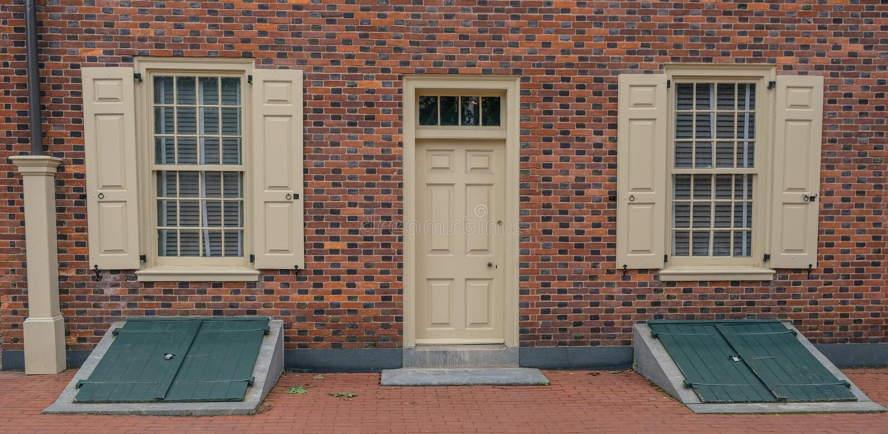 Historisk snickare` s Hall i Philadelphia royaltyfri fotografi