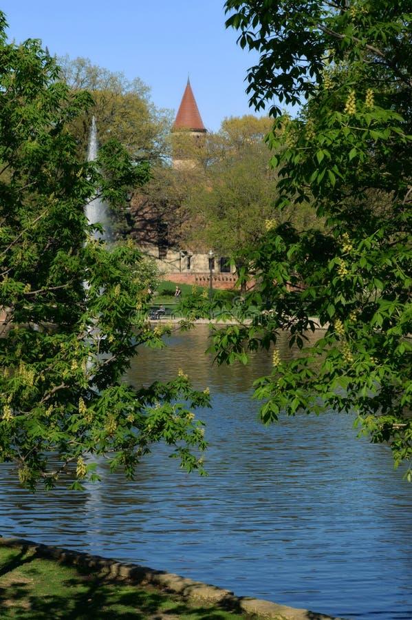 Historisk spegel sjö den Ohio delstatsuniversitetet OSU arkivbilder