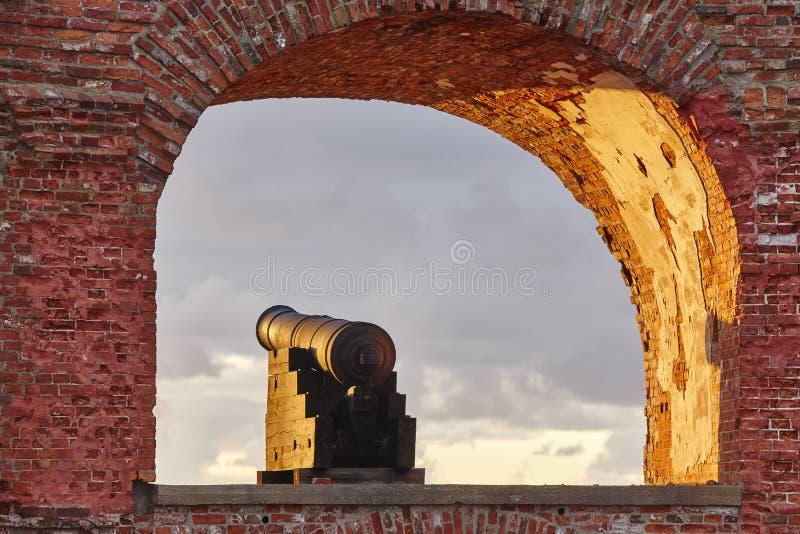 Historisk stärkt plats av Bomarsund, Aland öar Finland H arkivfoto