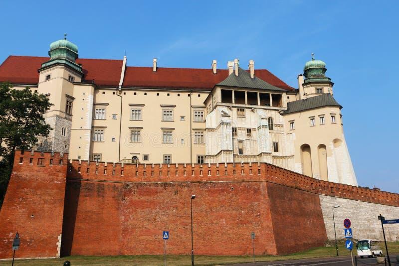 Historisk stad av Krakow i hjärtan av Polen arkivbild