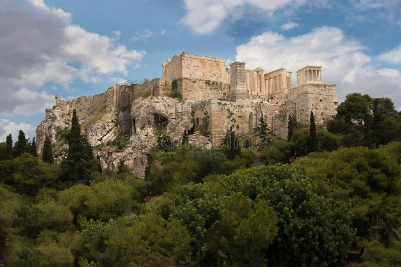 Historisk strukturParthenon Grekland arkivbilder