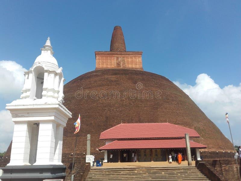 Historisk tempel i Sri Lanka royaltyfri fotografi