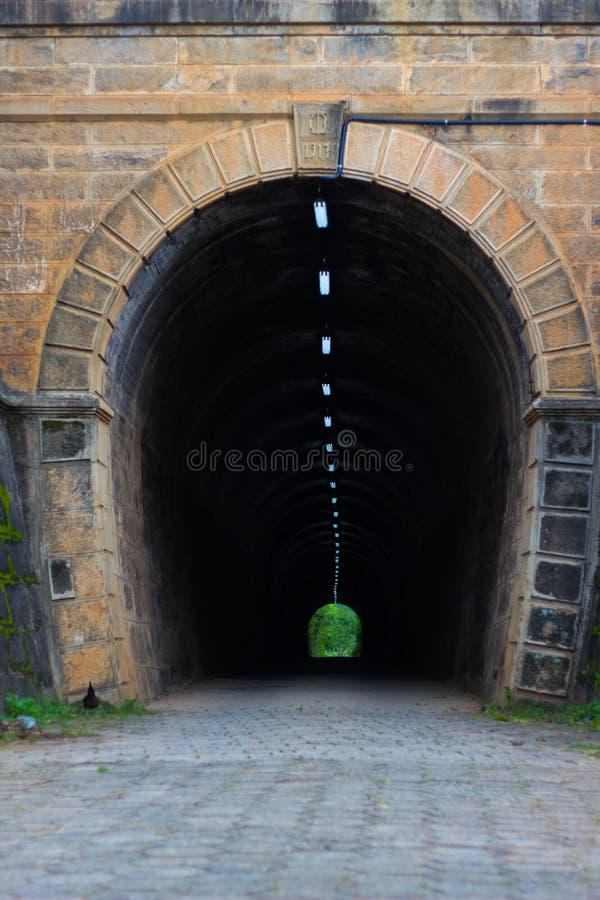 Historisk tunnel i en bågform royaltyfri fotografi