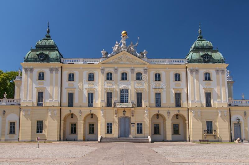 Historisk uppehåll av den polska magnaten Klemens Branicki, Branicki slott i Bialystok, Polen royaltyfria foton