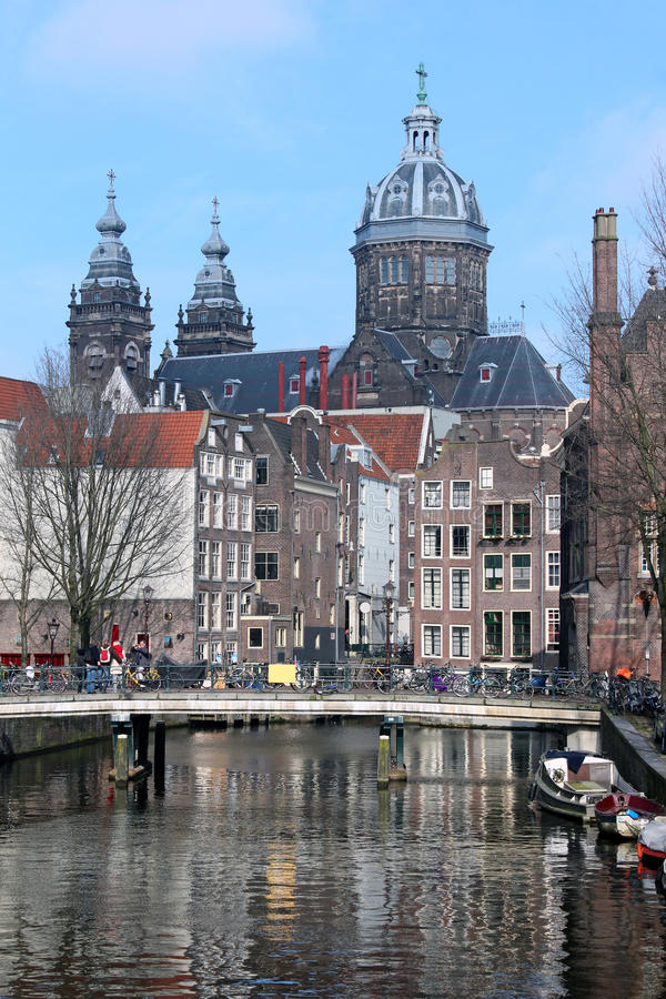 historiska amsterdam arkivbild