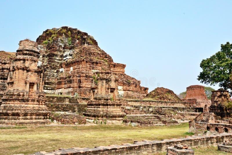 Historiska Ayutthaya parkerar Thailand royaltyfri bild