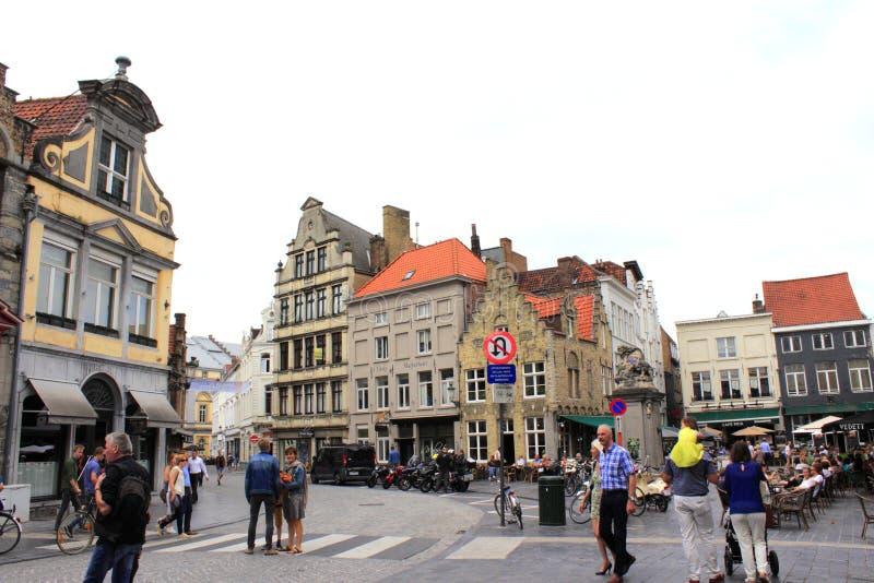 Historiska Bruges Belgien royaltyfria bilder
