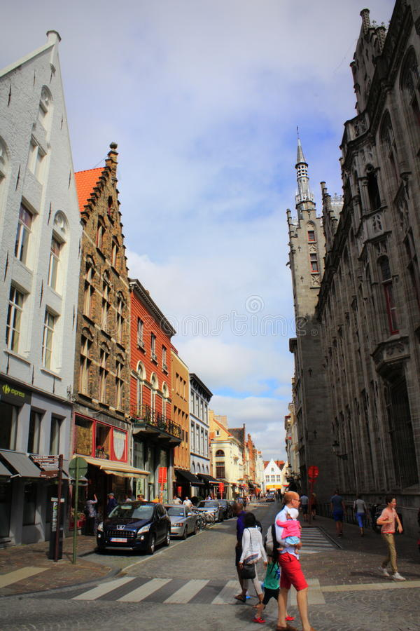 Historiska Bruges Belgien fotografering för bildbyråer