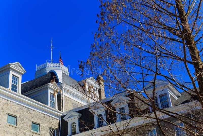 Historiska byggnader och konsertområde i Philadelphia PA arkivfoton