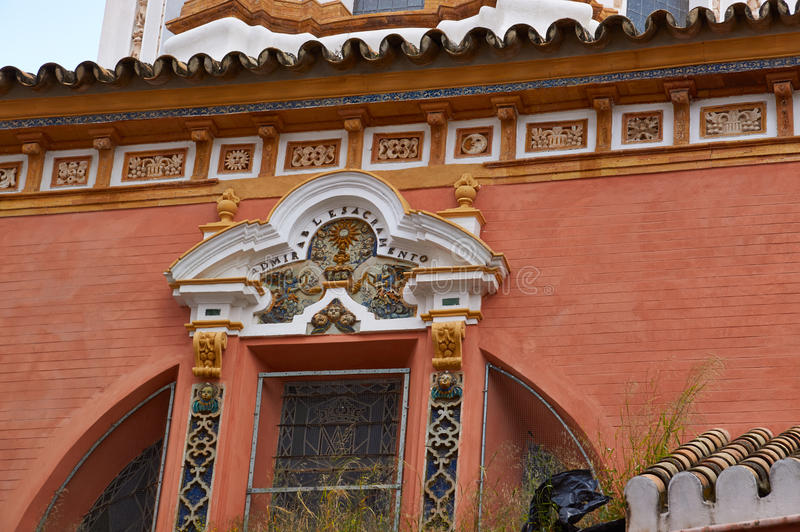 Historiska byggnader och monument av Seville, Spanien Spanska arkitektoniska stilar av gotiskt catalina santa royaltyfria bilder