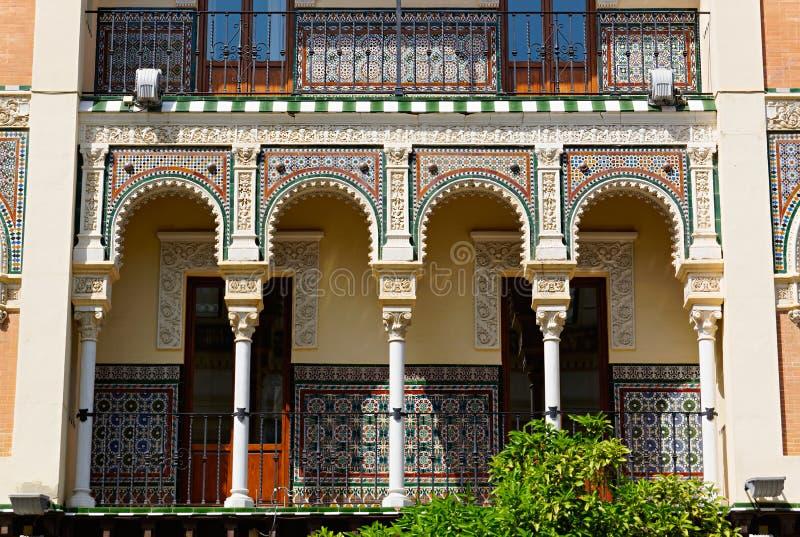 Historiska byggnader och monument av Seville, Spanien Spanska arkitektoniska stilar av gotiskt och Mudejar, barock fotografering för bildbyråer